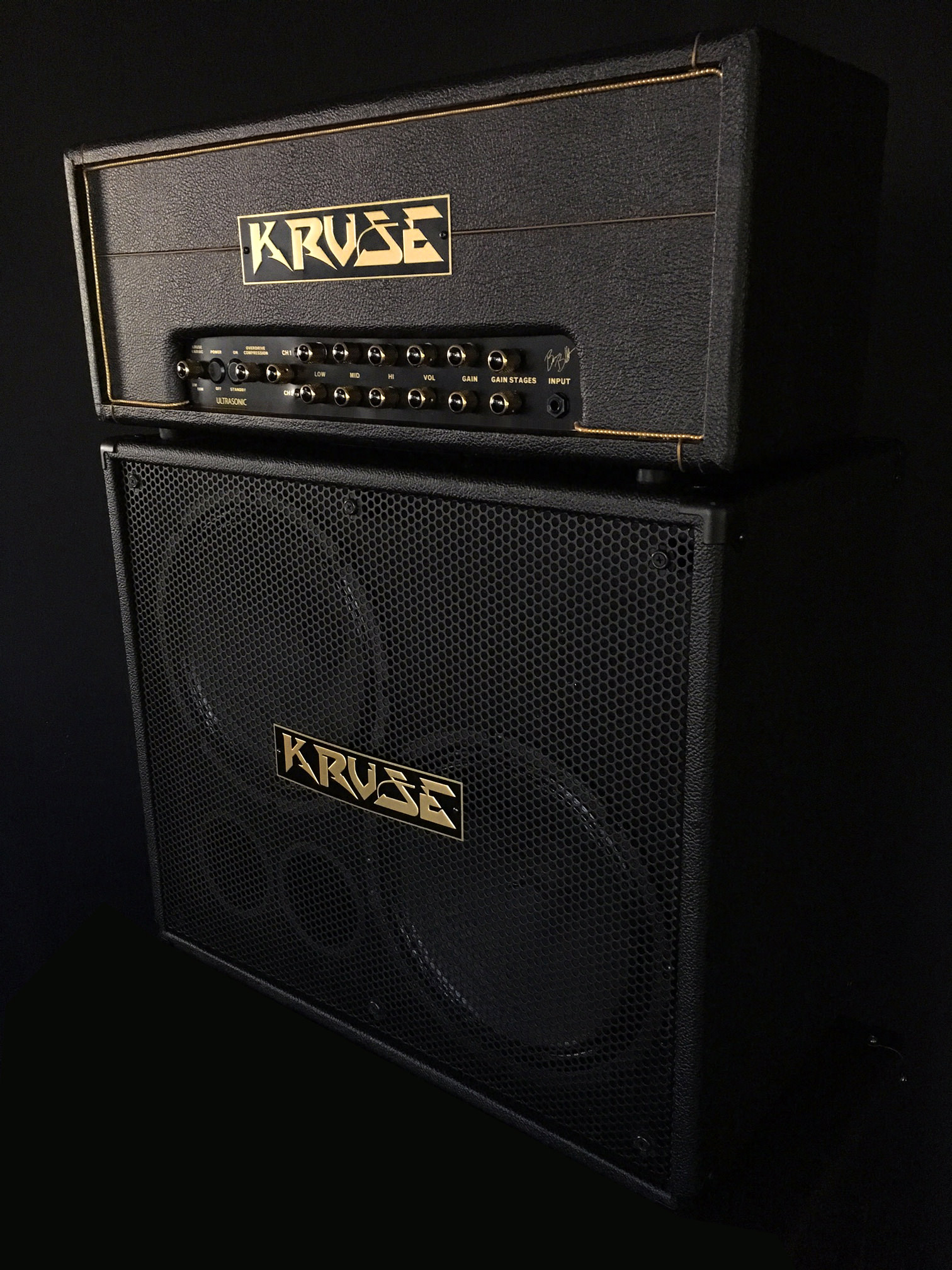 Cabs Kruse 2x12 Tolex Speaker Cabinets 3 Way Switch A Built In Rotary Selects Either The C 75 Or 65 Alone Both Speakers Combined For Totally Different Tones